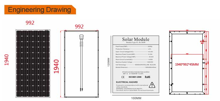 Factory direct solar panel 320w mono solar panel system use CE TUV certification