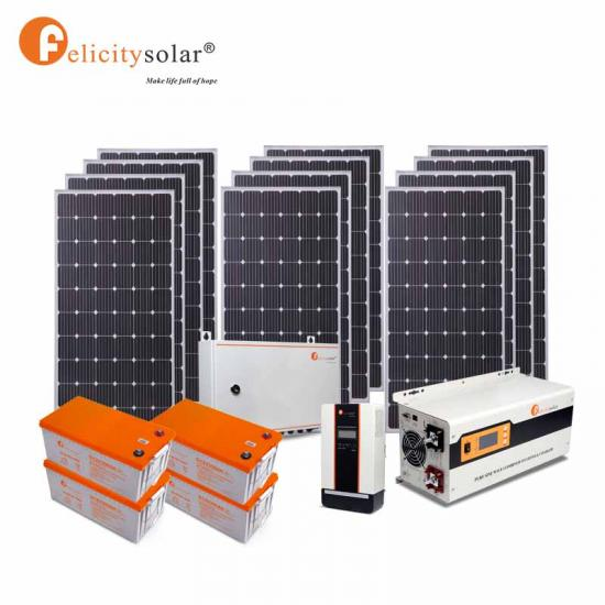 Hybrid System 3kw Solar Power Storage Solar Energy System Kit