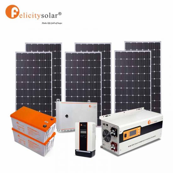 Easy To Install Complete 3500Va 3kw Off Grid Home Lighting Solar Power Kits Solar Energy System Price