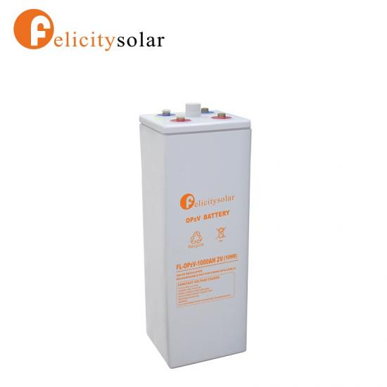 Tubular Plate Gel Battery OPZV 2v 1000ah Battery for Telecommunication Equipment